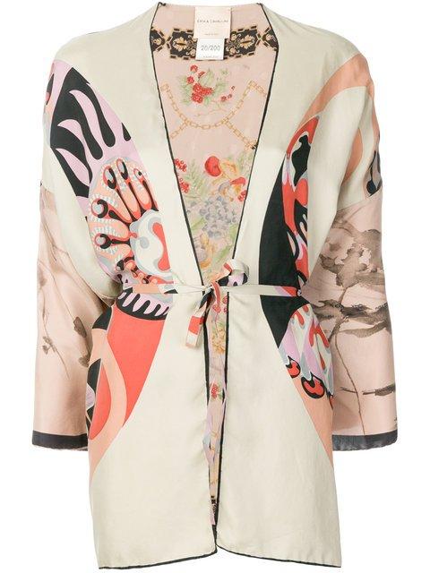 Erika Cavallini  Printed Kimono Jacket - Farfetch