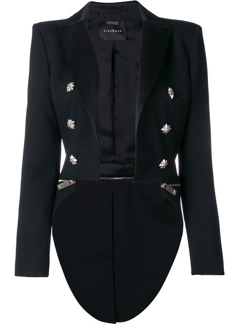 John Richmond Double Breasted Long Back Jacket - Farfetch
