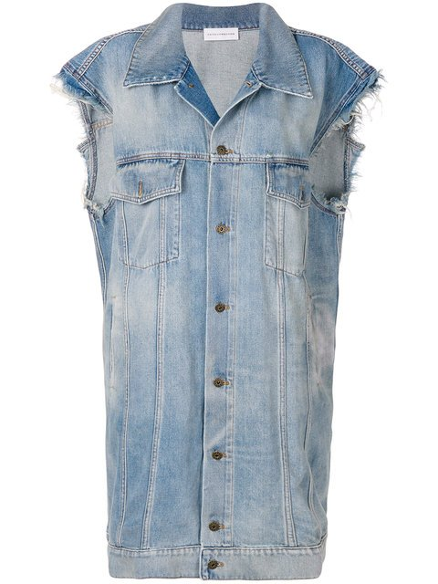 Faith Connexion Long Denim Gilet - Farfetch