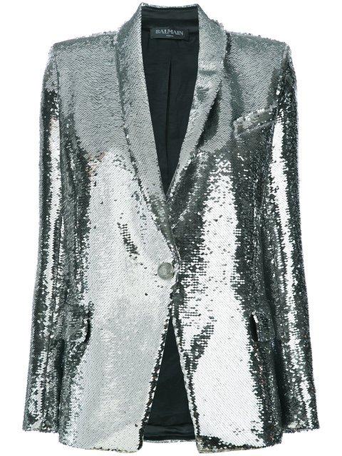 Balmain Sequin-embellished Blazer - Farfetch