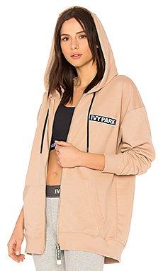 Badge Logo Zip Up Hoodie                                             IVY PARK