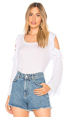 Cool Jersey Bell Sleeve Ruffle Tee                                             Chaser