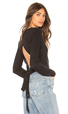 Wrap Back Long Sleeve Top                                             Lanston
