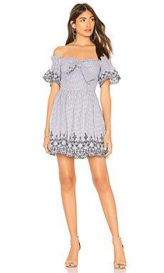 Off The Shoulder Embroidered Dress                                             J.O.A.
