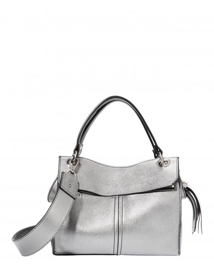Curl Silver Shoulder Bag
