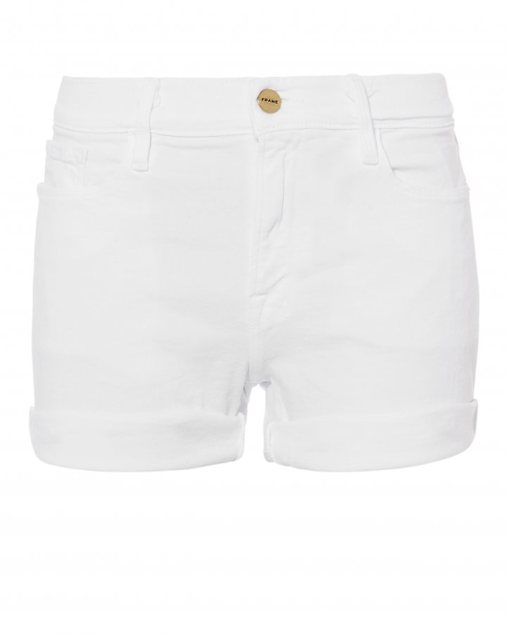 Le Cutoff White Shorts