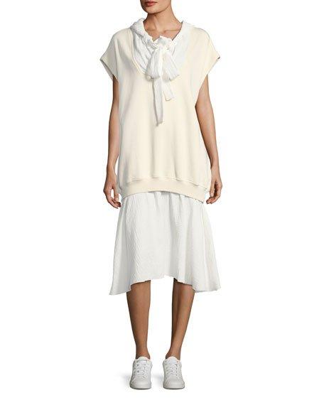 See by Chloe Hoodie Combo Dress