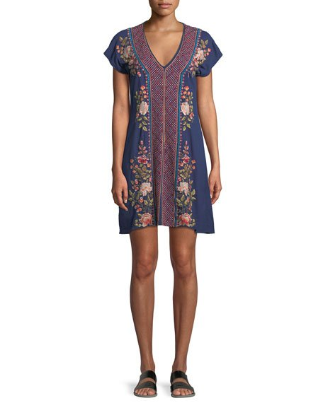 Johnny Was Libbie V-Neck Tunic Dress