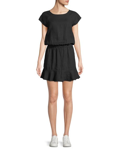 Joie Quora Linen Blouson Dress