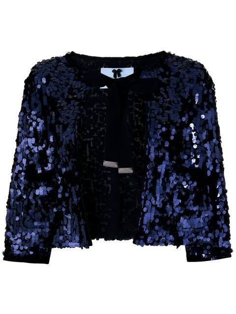 Blumarine Sequinned Shawl Jacket - Farfetch