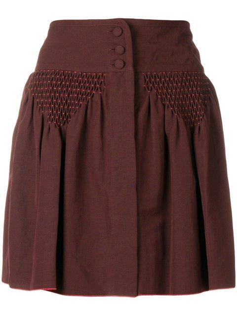 A.P.C. Draped Detail Mini Skirt - Farfetch