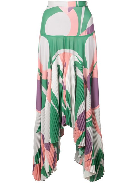 Alexis Colour-block Flared Skirt - Farfetch