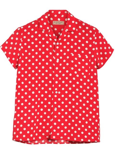 Burberry Polka Dot Short Sleeved Shirt - Farfetch