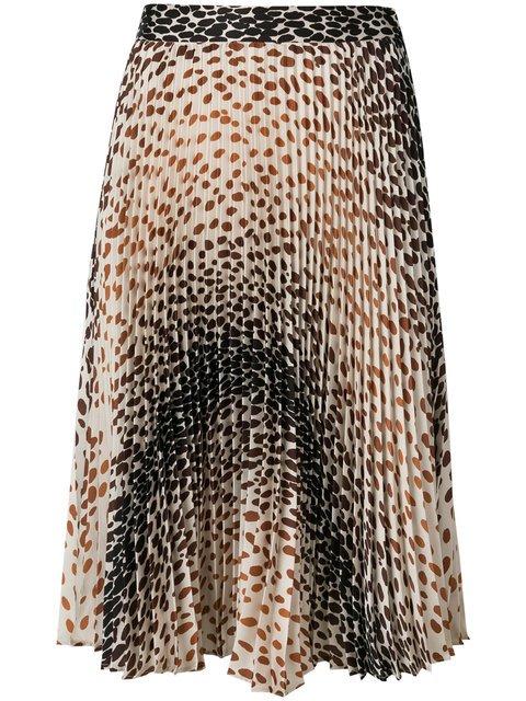 Marco De Vincenzo Leopard Print Pleated Skirt - Farfetch