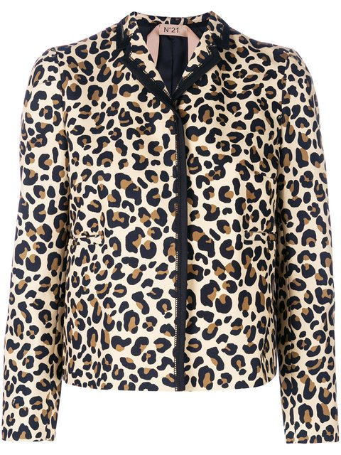 Nº21 Leopard Print Cropped Jacket - Farfetch