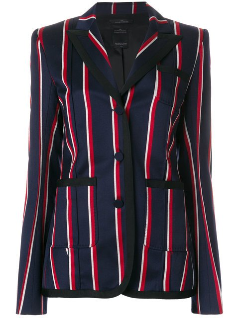 Rokh Striped Single Breasted Blazer - Farfetch