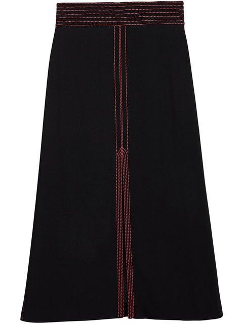 Burberry Topstitch Detail Skirt - Farfetch