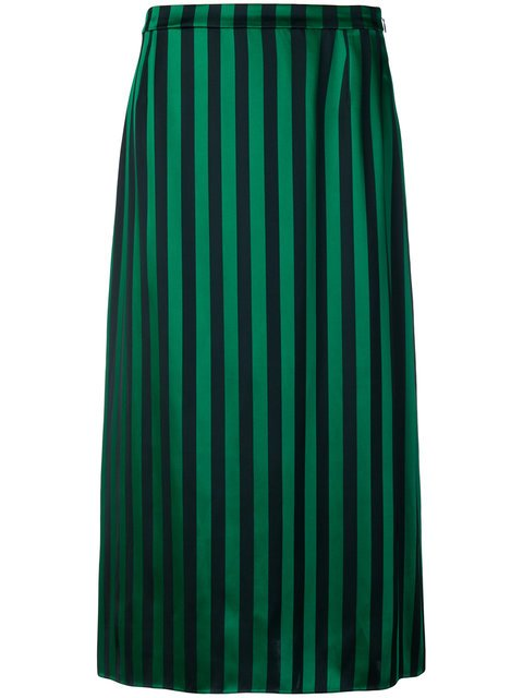 Kenzo Striped Midi Skirt - Farfetch