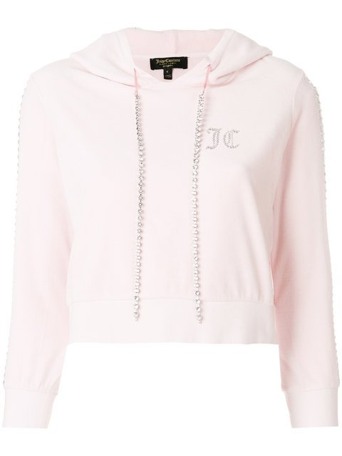 Juicy Couture Swarovski Embellished Velour Hoodie - Farfetch