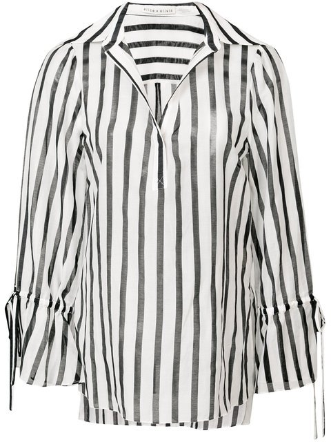Alice+Olivia Longsleeved Striped Shirt - Farfetch