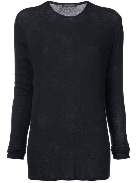 Balmain Fitted Longsleeved T-shirt - Farfetch