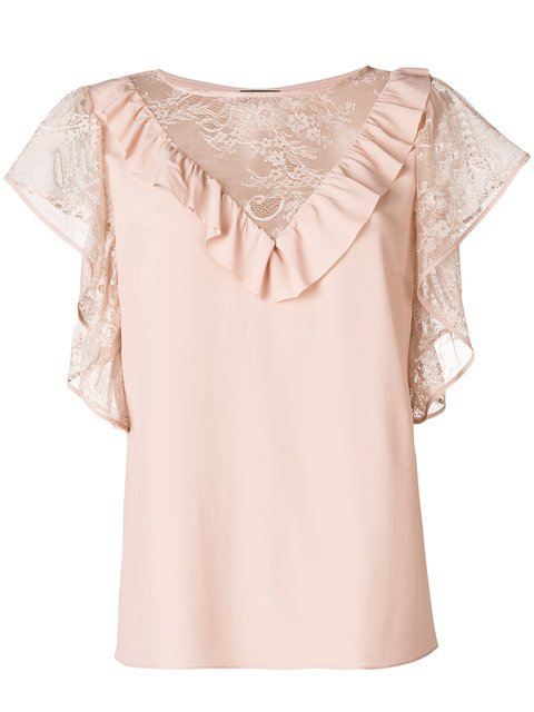 Liu Jo 40s Glam Lace Blouse - Farfetch