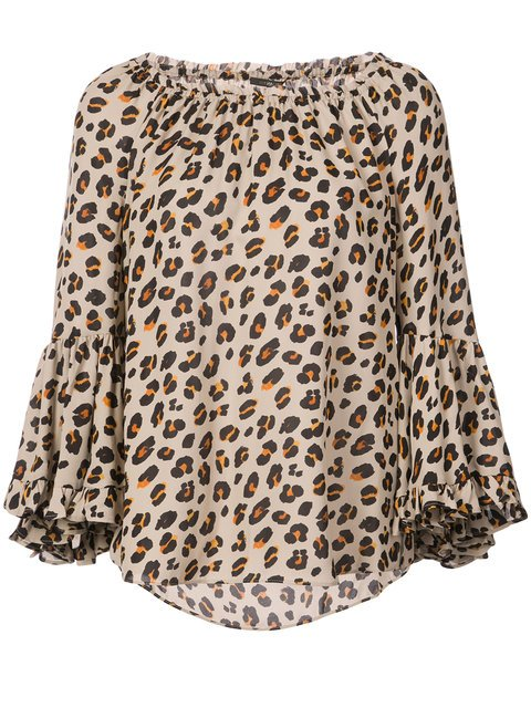 Kobi Halperin Leopard Off-the-shoulder Blouse - Farfetch