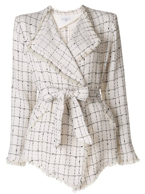 Iro Tweed Belted Jacket - Farfetch
