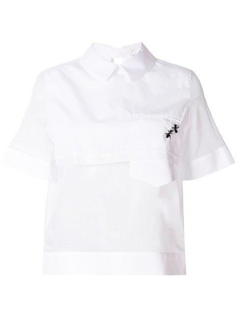 Ermanno Scervino Asymmetric Ants Embellished Blouse  - Farfetch