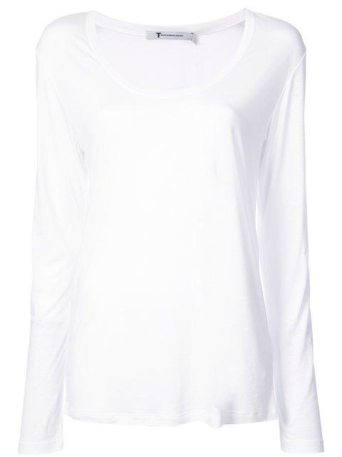 T By Alexander Wang Scoop Neck T-shirt - Farfetch