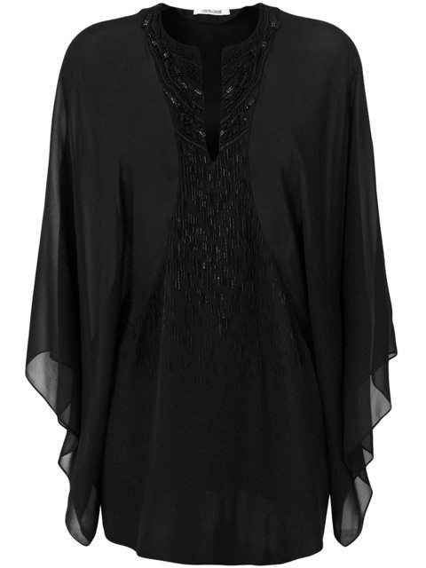 Roberto Cavalli Sheer Sequin Embellished Blouse - Farfetch