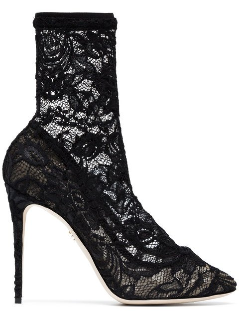 Dolce & Gabbana 105 Lace Ankle Boots - Farfetch