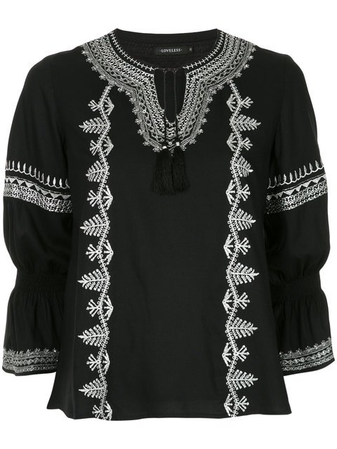 Loveless Embroidered Long-sleeve Blouse - Farfetch