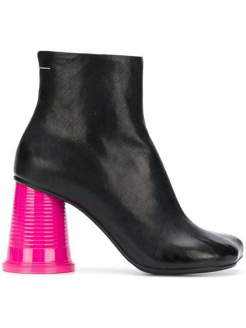 Mm6 Maison Margiela Colour-block Ankle Boots - Farfetch