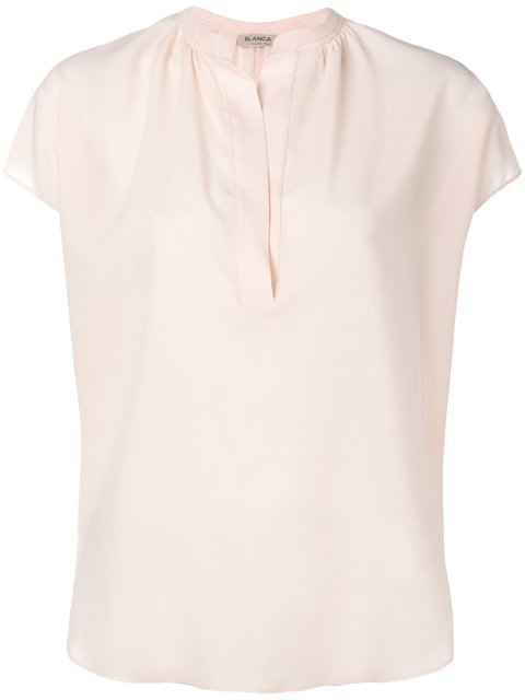 Blanca V-neck Shortsleeved Blouse - Farfetch