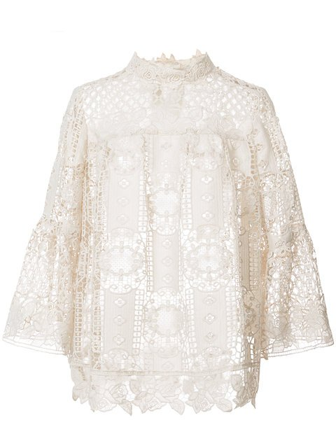 Anna Sui Perforated Lace Blouse - Farfetch
