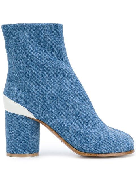 Maison Margiela Denim Tabi Ankle Boots - Farfetch