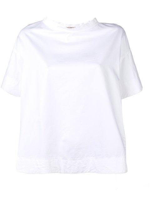 Blanca High Neck Shortsleeved Blouse - Farfetch