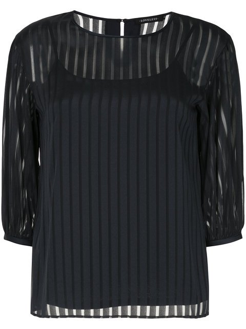 Loveless Striped Sheer Shift Blouse - Farfetch