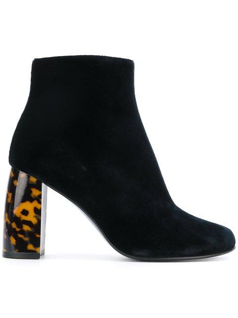 Stella McCartney Velvet Ankle Boots - Farfetch