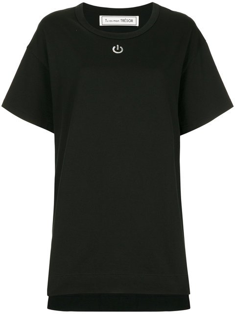 Tu Es Mon Trésor  Sequin Power Button T-shirt - Farfetch