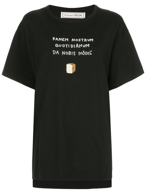 Tu Es Mon Trésor  Bead Embroidered T-shirt - Farfetch