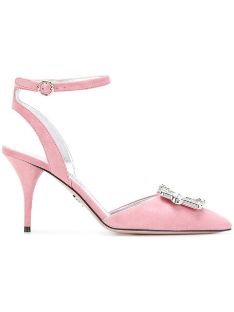 Prada Pointed Rhinestone Pumps - Farfetch