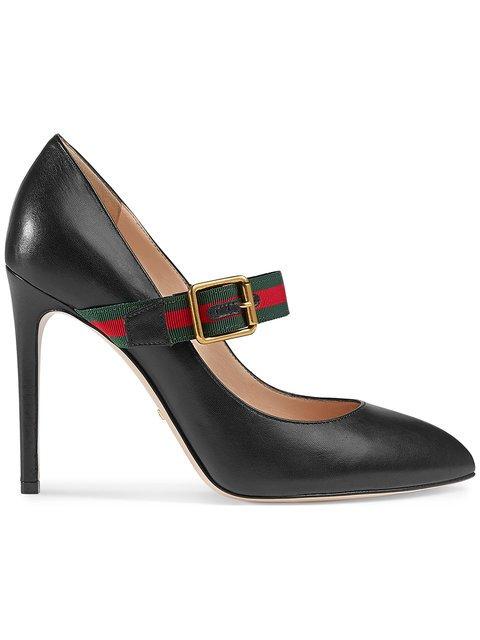 Gucci Sylvie Leather Mid-heel Pumps - Farfetch