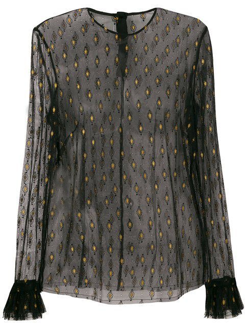 Philosophy Di Lorenzo Serafini Sheer Embroidered Top - Farfetch