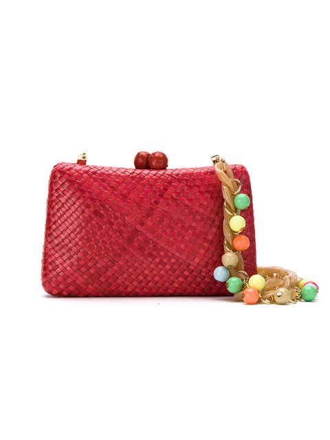Serpui Straw Clutch - Farfetch