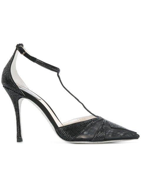René Caovilla Embellished Ankle-strap Pumps - Farfetch