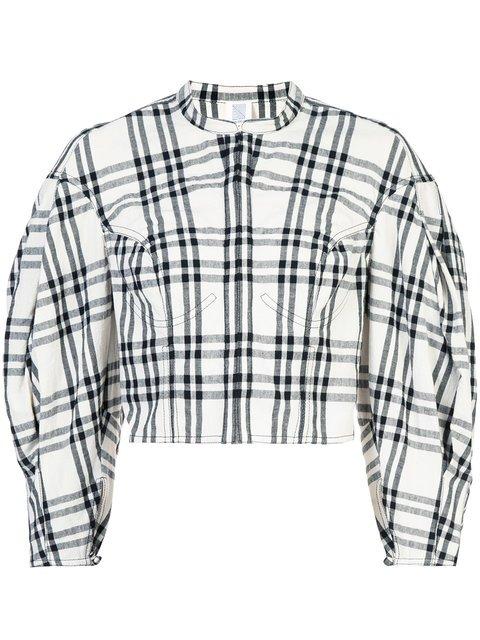 Rosie Assoulin Plaid Cropped Jacket - Farfetch