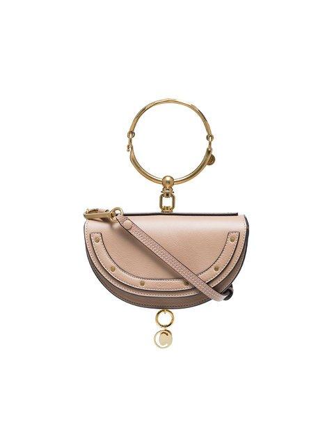 Chloé Beige Nile Mini Minaudiere Leather Bracelet Bag - Farfetch
