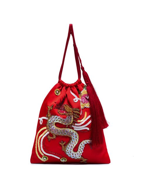 Attico Sequin Embellished Dragon Bracelet Bag - Farfetch